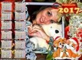 Calendário 2017 Cachorro e Gatinho