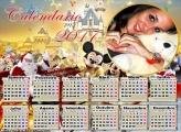 Calendário 2017 Papai Noel e Mickey na Disney