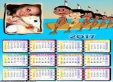 Calendário 2017 Indiozinhos Galinha Pintadinha