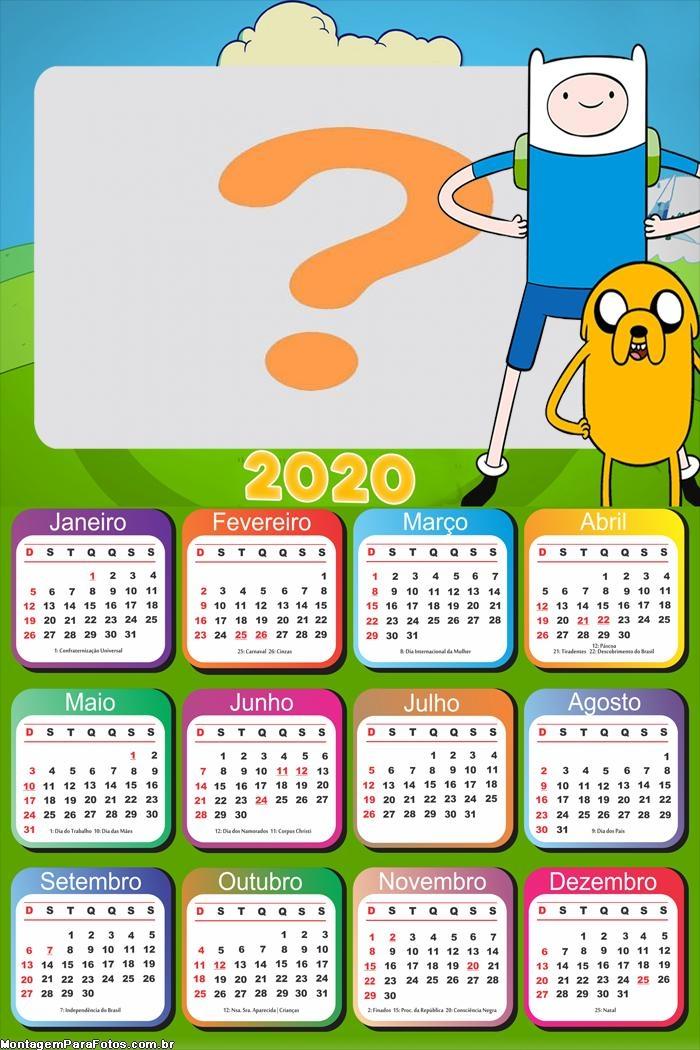 Calendário 2020 Hora de Aventura