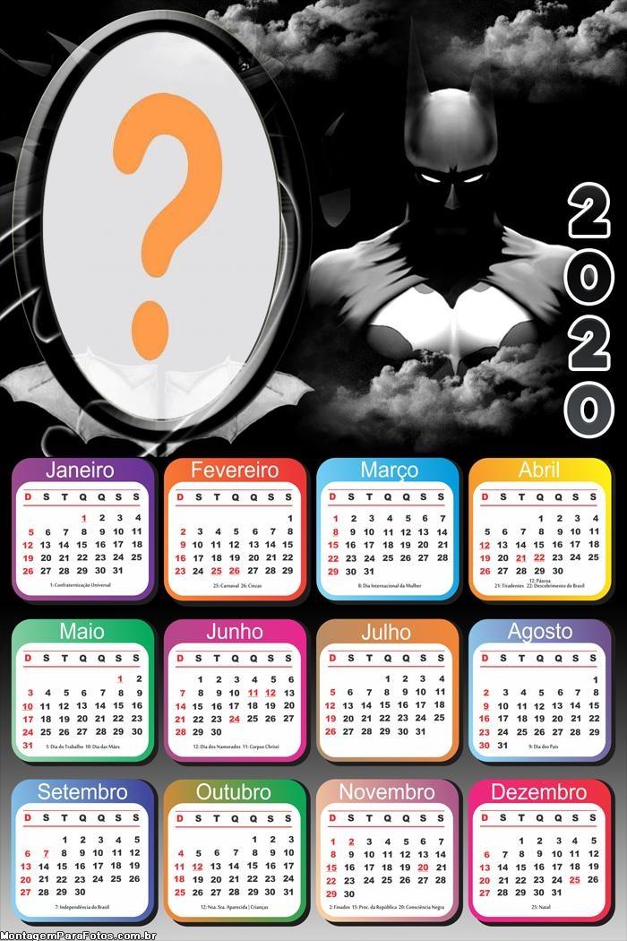 Montar Calendário 2020 Batman