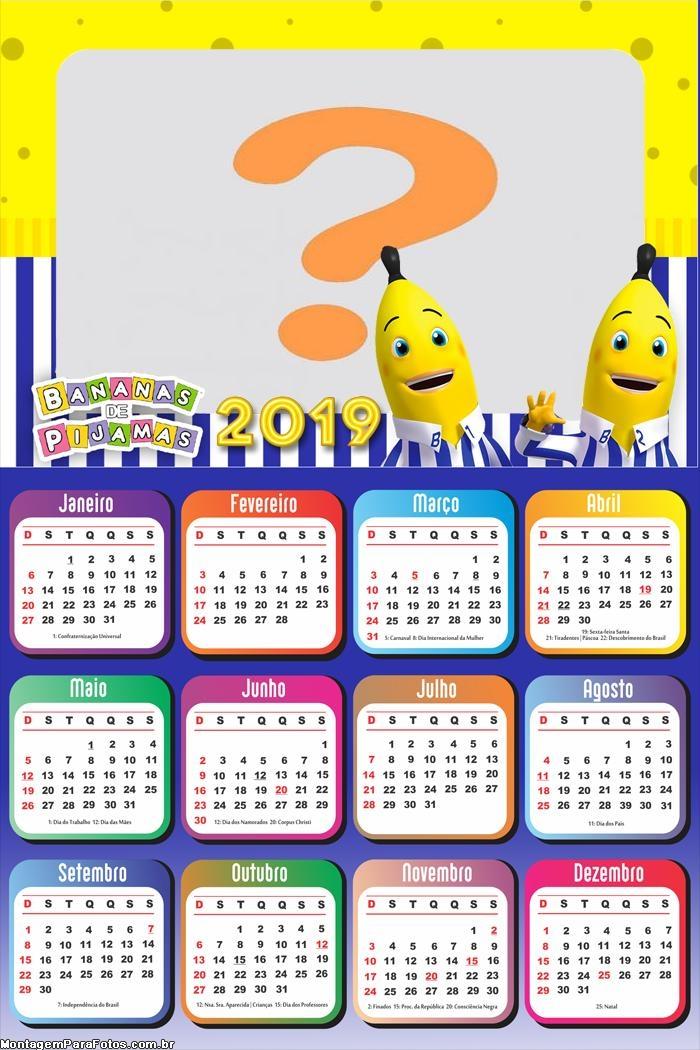 Calendário 2019 Bananas de Pijama