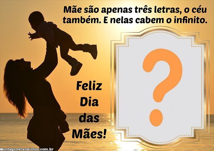 Dia das Mães Homenagem com Mensagem Moldura