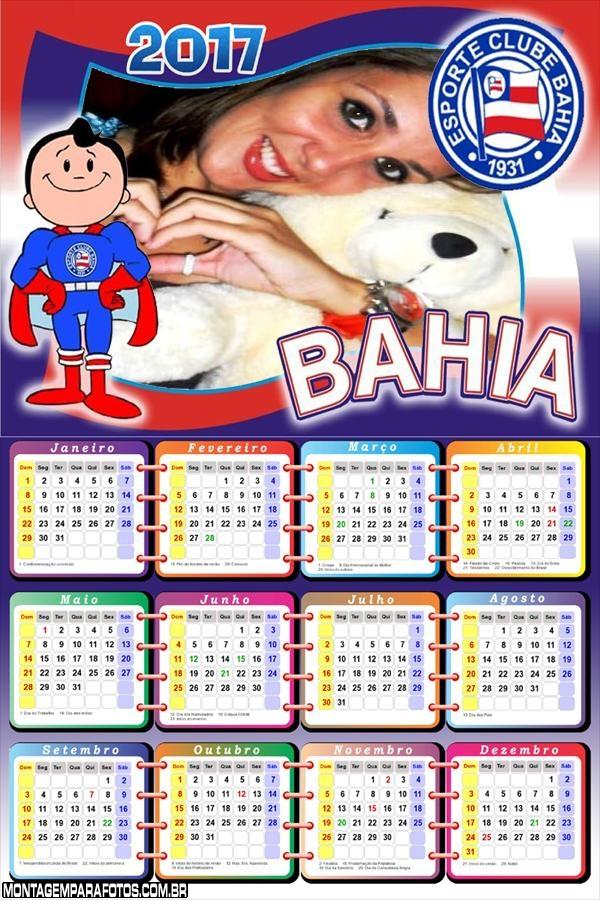 Calendário 2017 Bahia Time Futebol