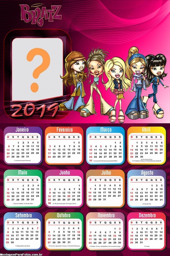 Calendário 2019 Bratz