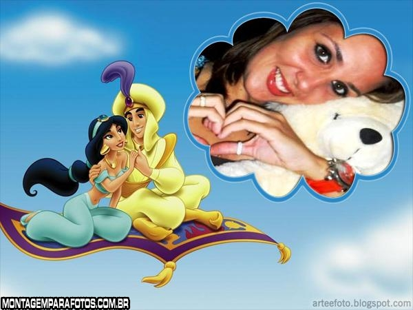 Moldura Aladin e Jasmin
