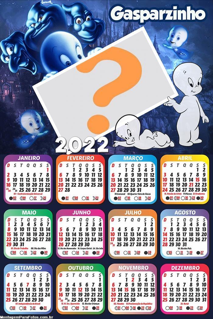 Calendário 2022 Gasparzinho Infantil Desenho