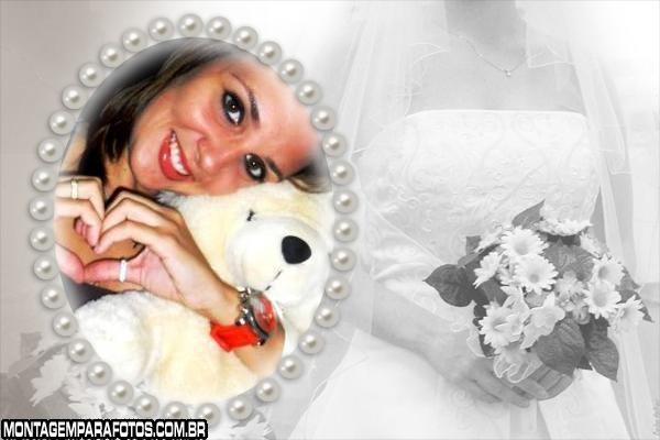 Moldura de Pérolas e Noiva