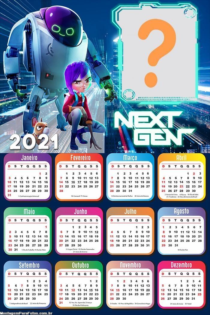 Moldura Online Calendário 2021 Next Gen