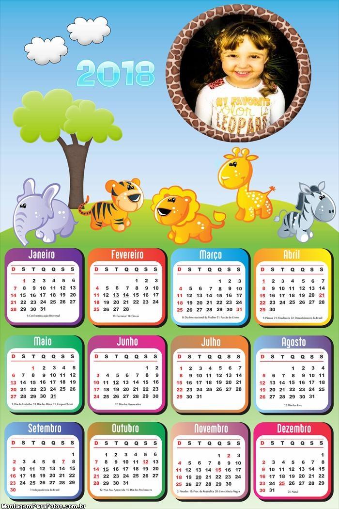 Calendário 2018 Infantil Safari Baby