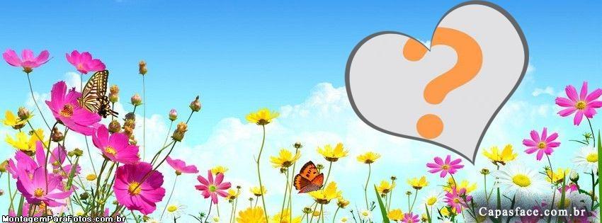 Moldura Capa Facebook Flores