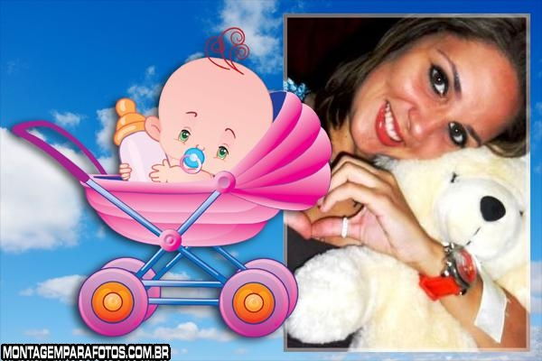 Moldura Bebê no Carrinho