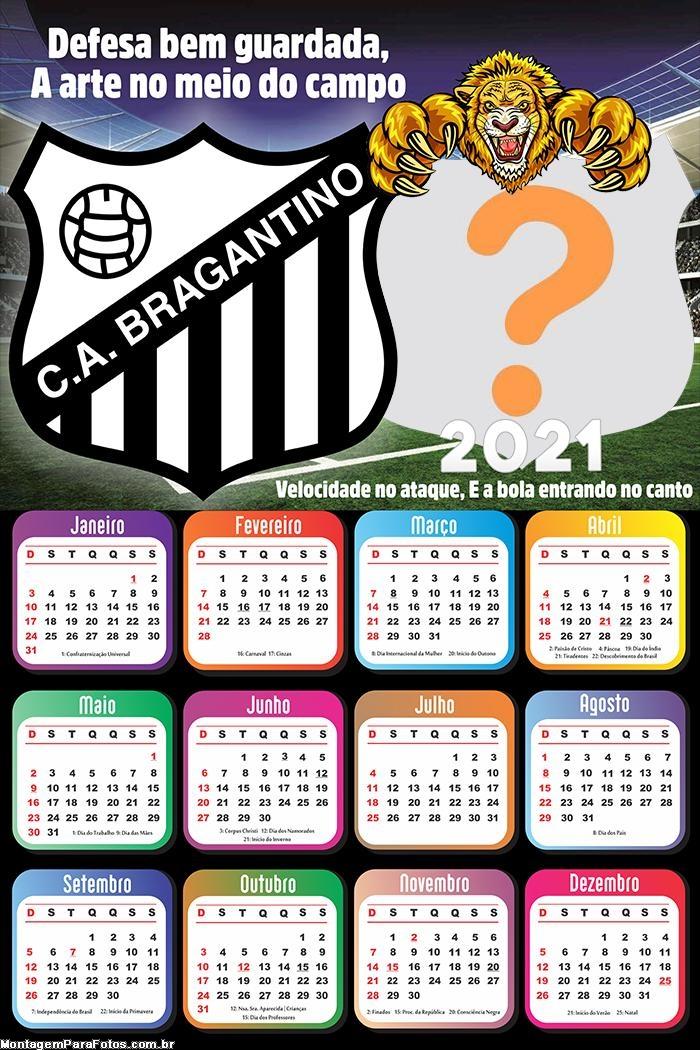 Calendário 2021 Bragantino Time Futebol