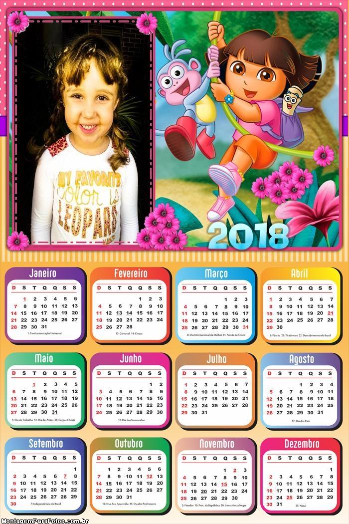 Calendário 2018 Dora Aventureira