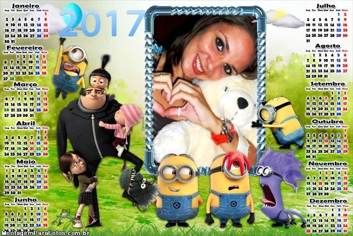 Calendário 2017 do Filme Minions