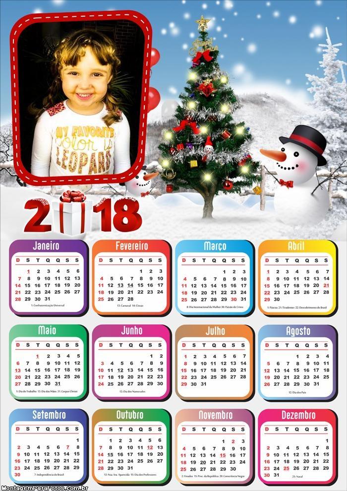 FotoMontagem Natal Calendário 2018