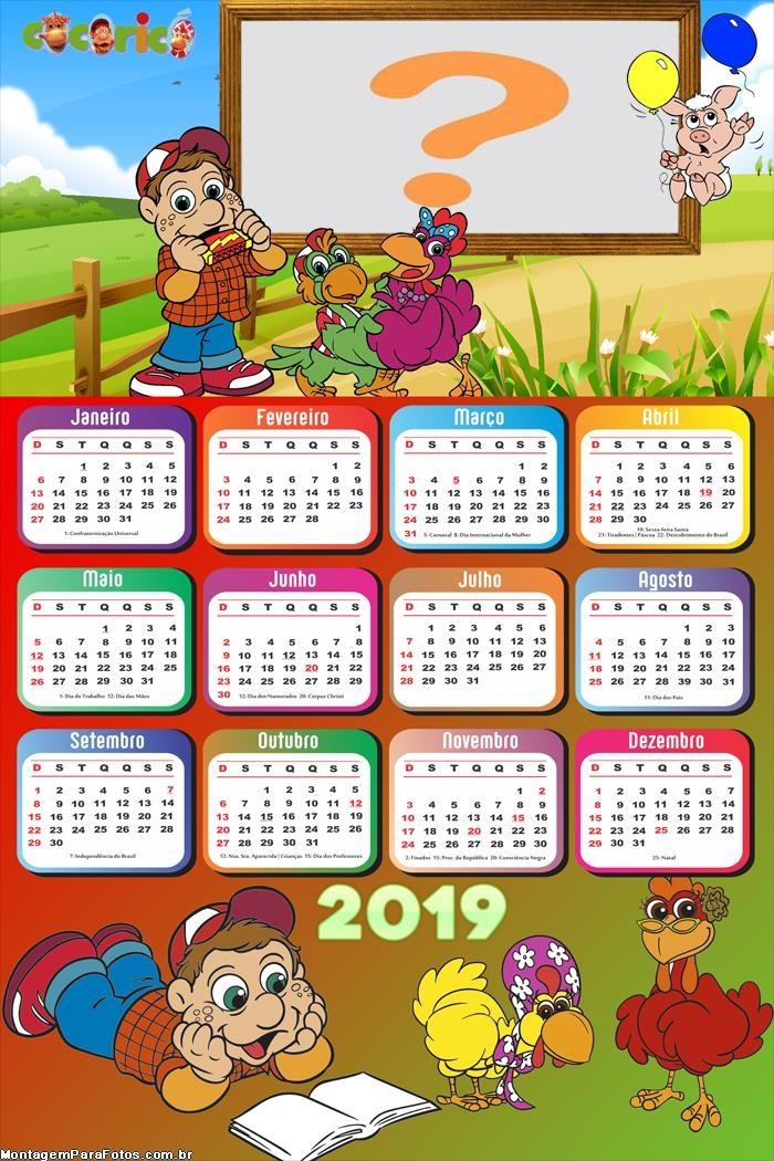 Calendário 2019 Galinha Pintadinha