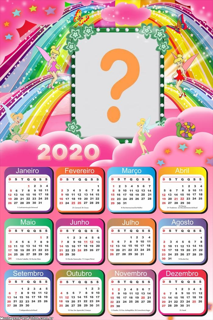 Calendário 2020 Personalizado para Imprimir