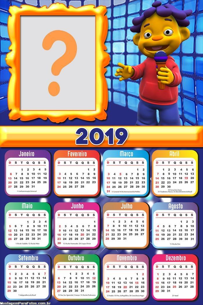 Calendário 2019 Cid Cientista