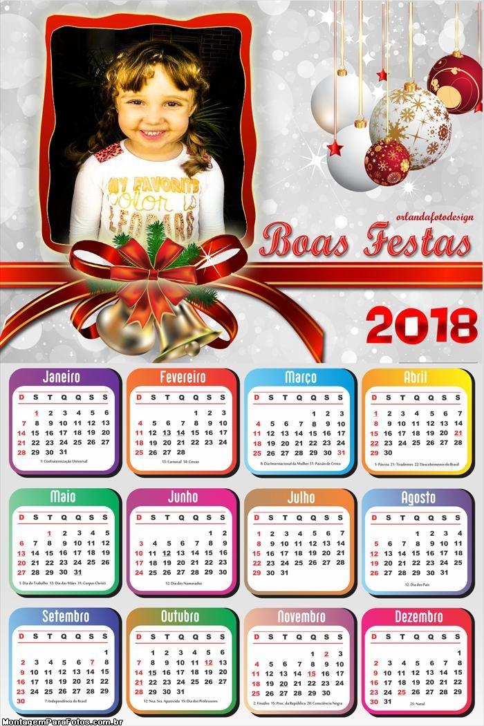 Calendário 2018 Boas Festas