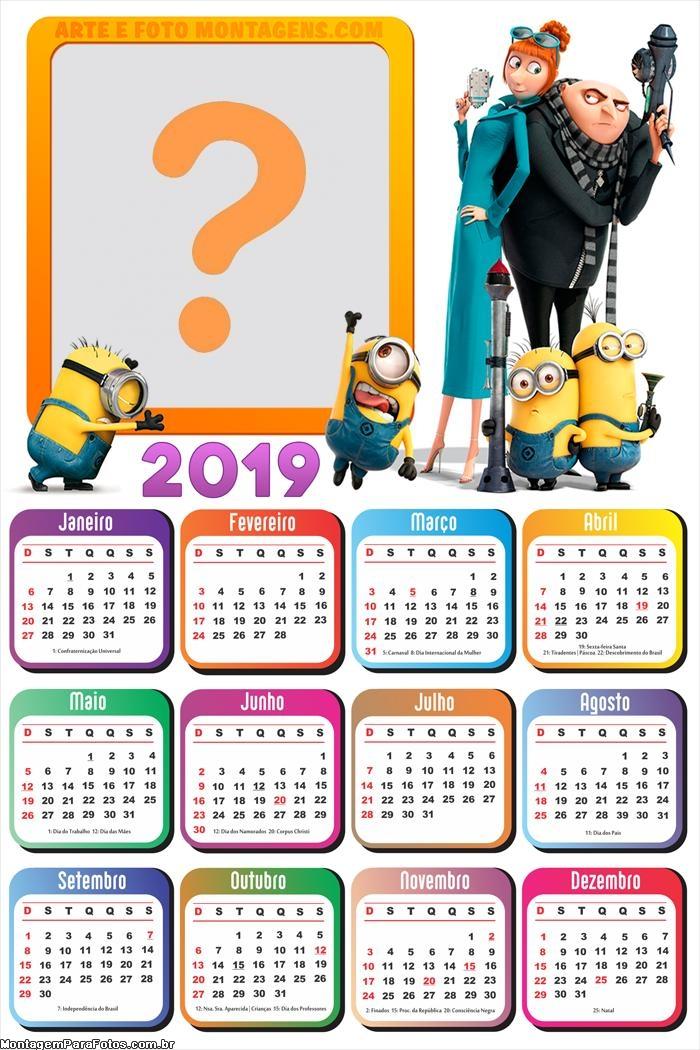 Calendário 2019 Meu Malvado Favorito