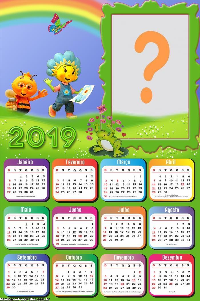 Calendário 2019 Fifi e os Floriguinhos