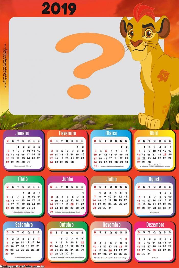 Calendário 2019 Leão