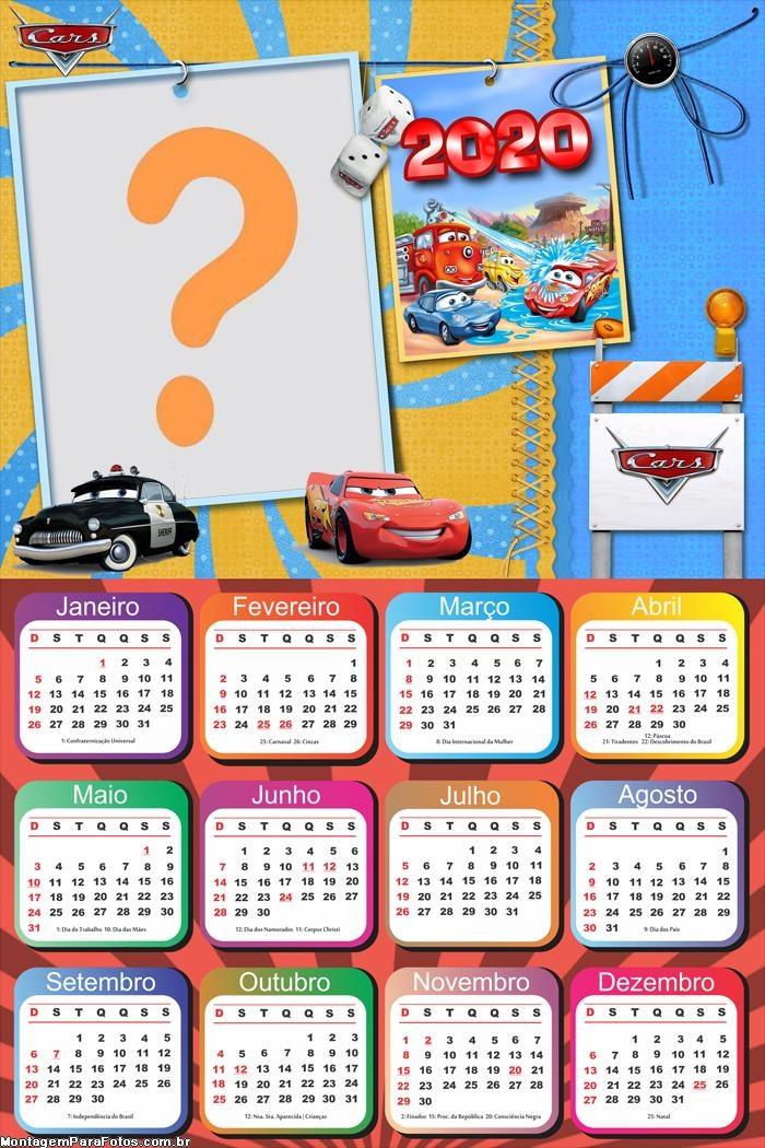 Calendário 2020 Filme Carros Personalizado