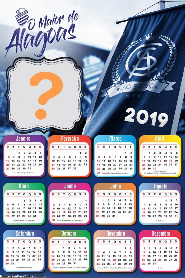Calendário 2019 O Melhor de Alagoas