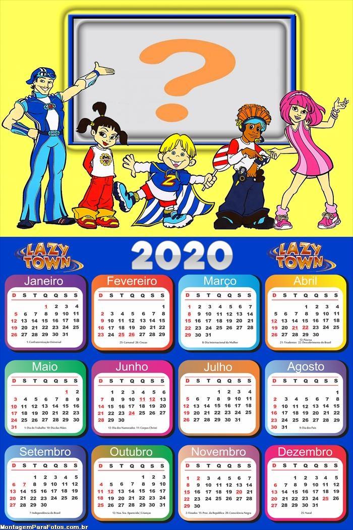Calendário 2020 Lazy Town Desenho