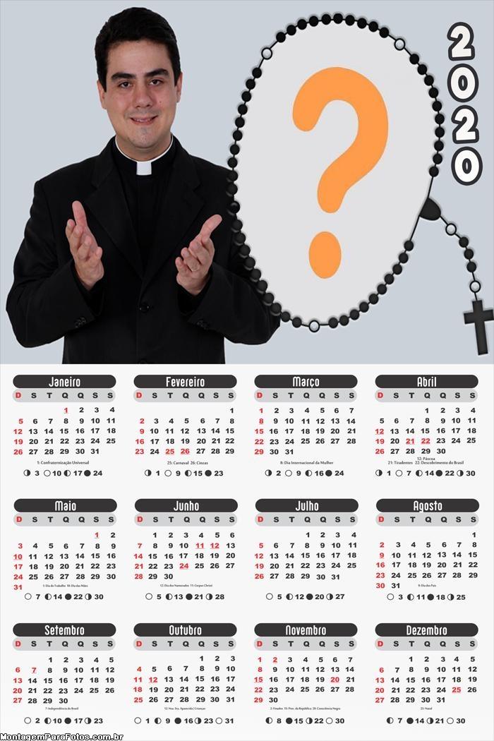 Calendário 2020 Padre Robson Trindade