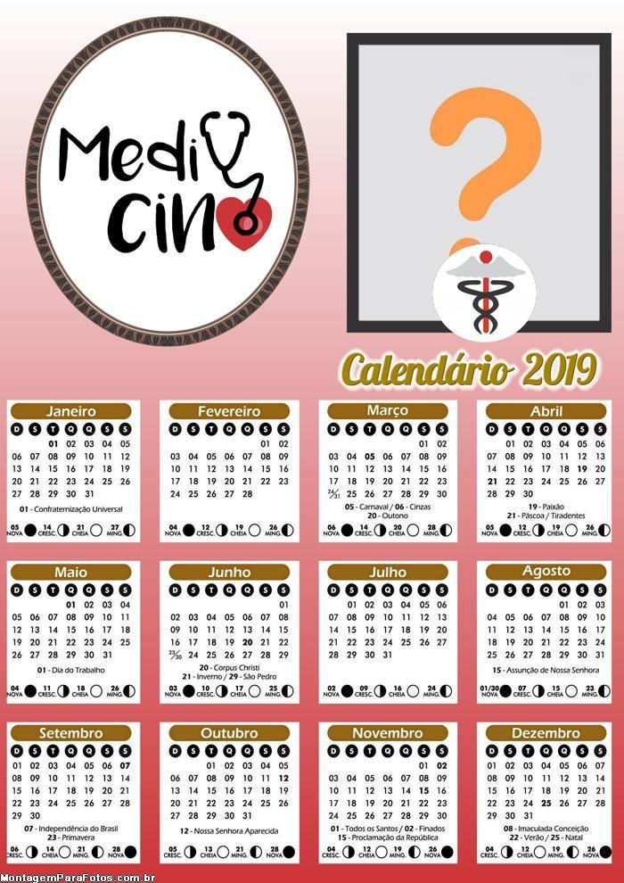 Calendário Medicina 2019
