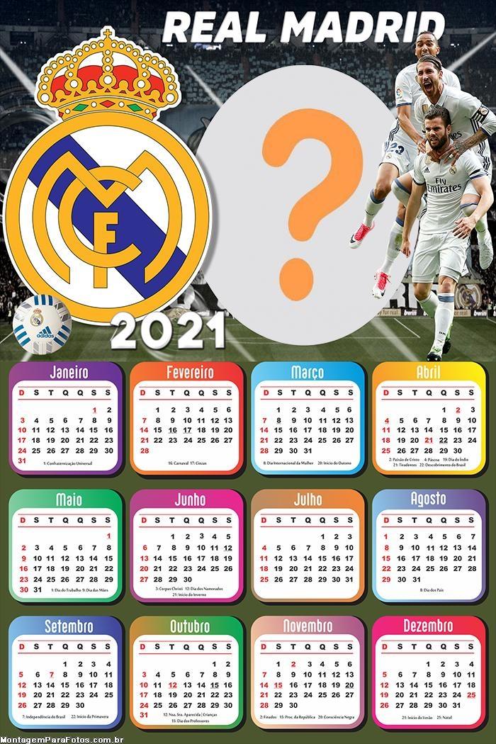 Base Moldura Calendário 2021 Real Madrid