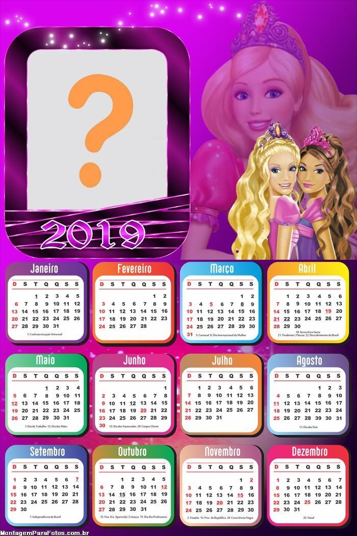 Calendário 2019 Barbie Amiga