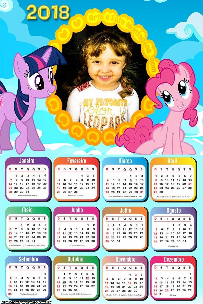 Calendário 2018 My Little Pony Infantil