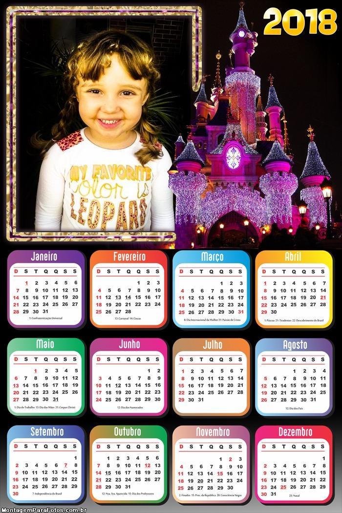 Calendário 2018 Castelo