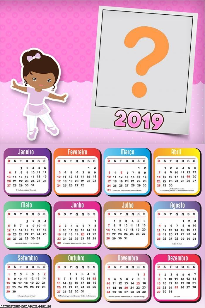 Calendário 2019 Bailarina Cute