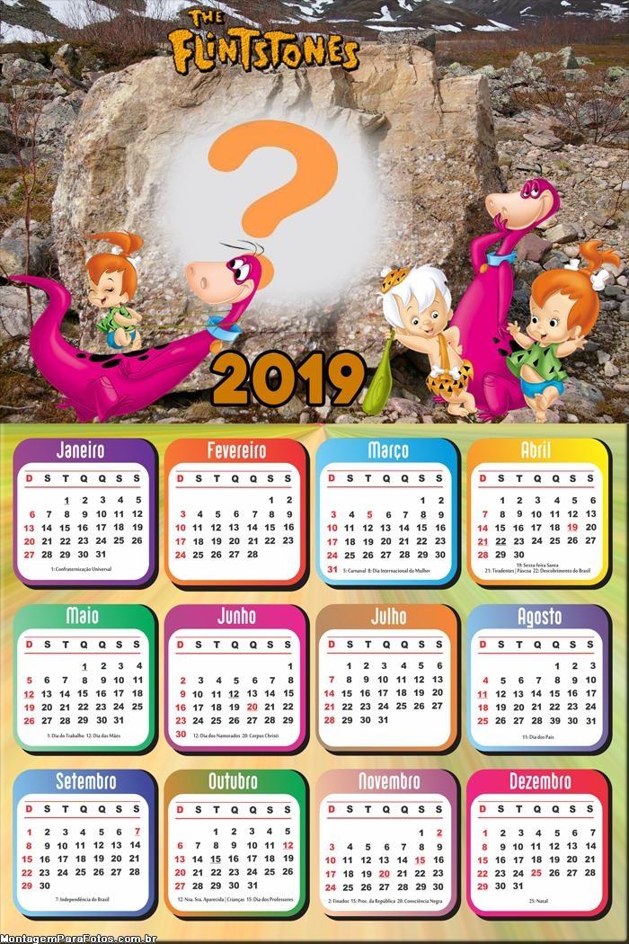 Calendário 2019 Bambam e Pedrita
