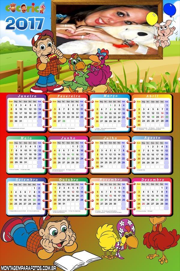 Calendário 2017 Infantil Cocoricó