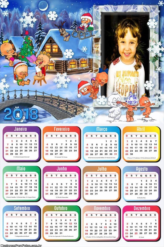 Calendário 2018 Bebês Natalinos