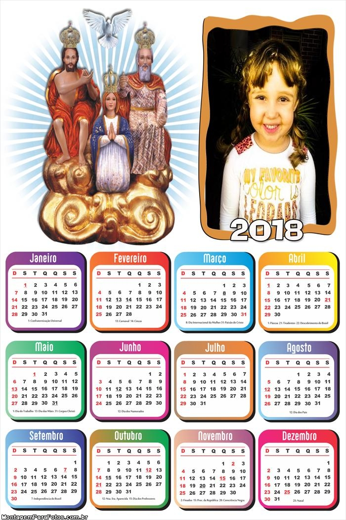 Calendário 2018 Divino Pai Eterno