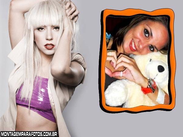 Moldura Cantora Lady Gaga