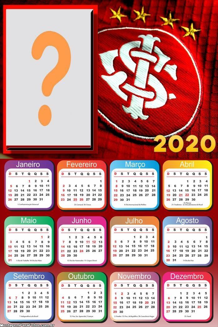 FotoMontagem Calendário 2020 Internacional