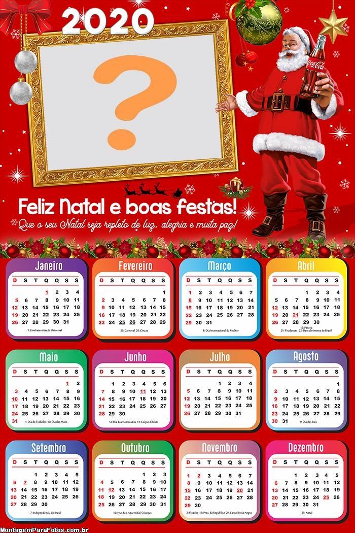 Calendário 2020 Papai Noel Coca Cola