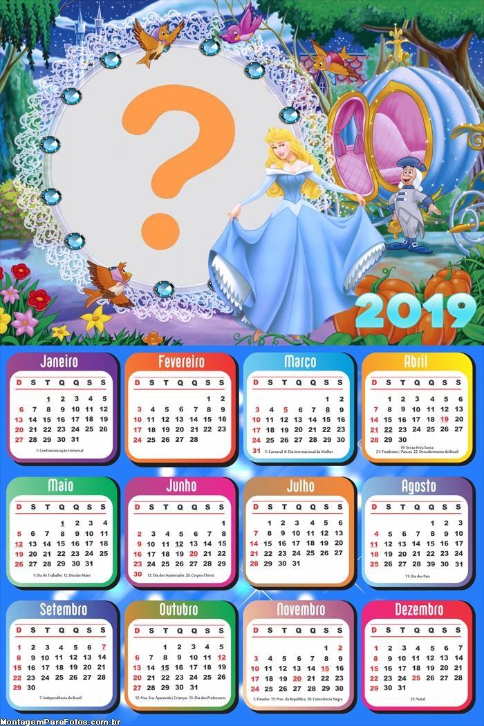 Calendário 2019 Cinderela na Carruagem