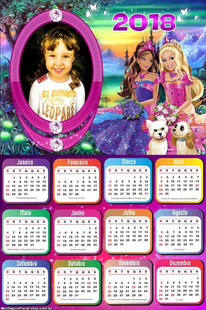 Calendário 2018 Babie e Cachorrinhos