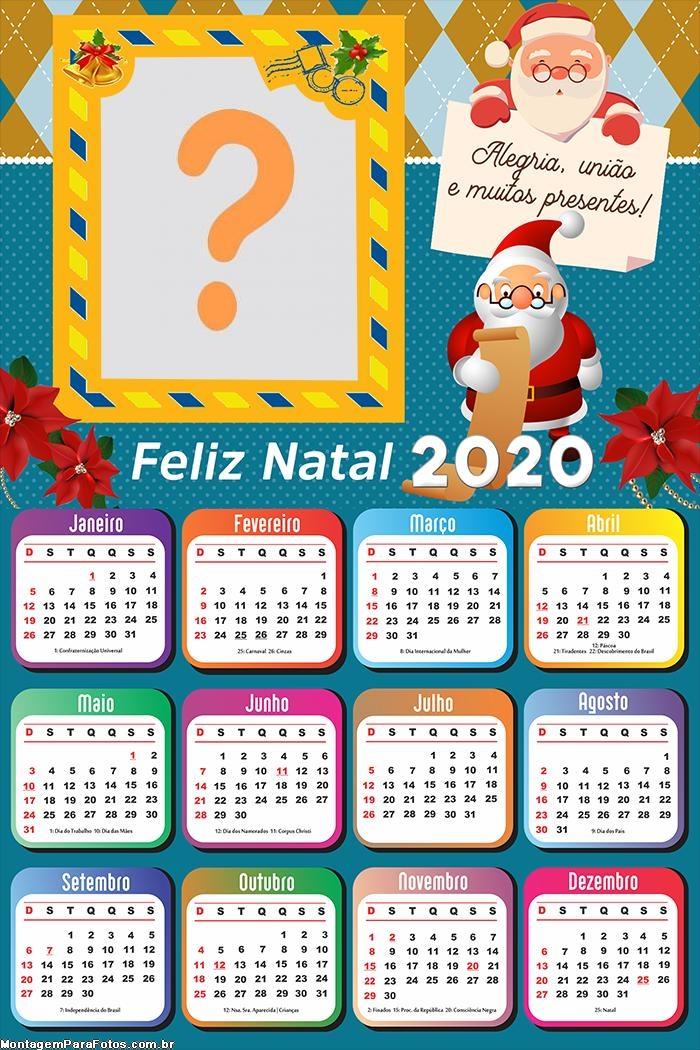 Calendário 2020 Papai Noel dos Correios