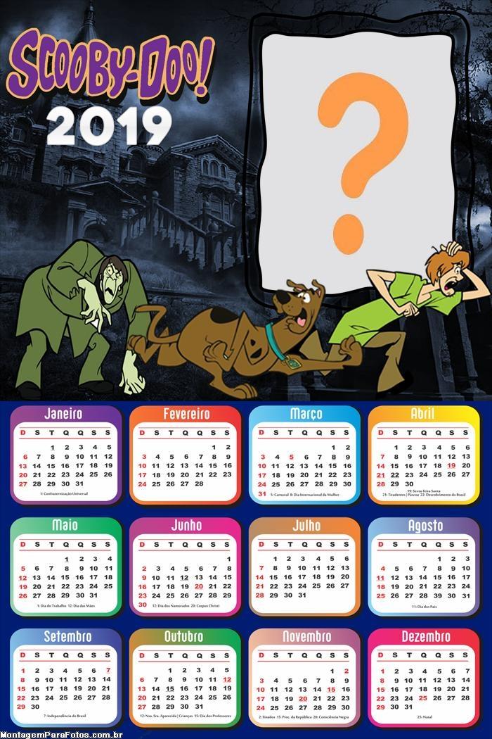Calendário 2019 Scooby Doo