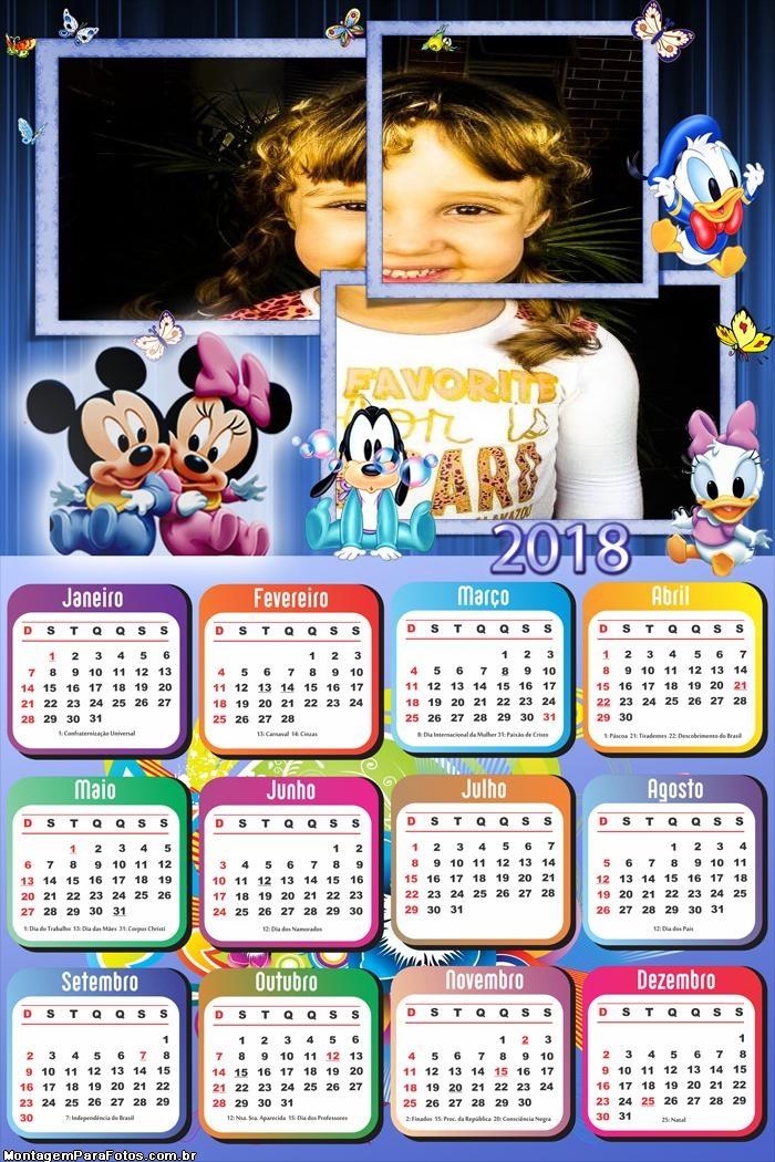 Calendário 2018 Baby Disney