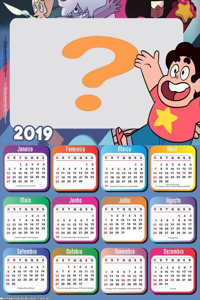 Calendário 2019 Steve Universo